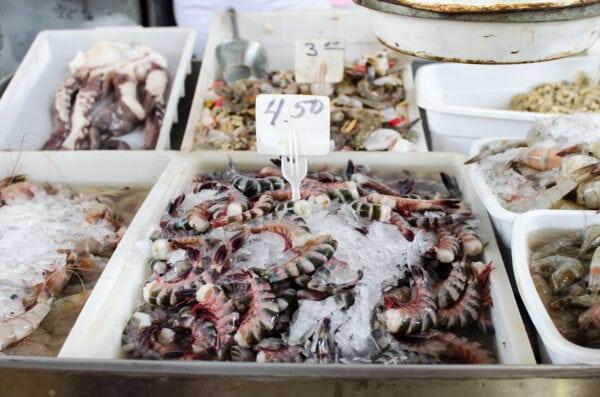 mercado de mariscos precios